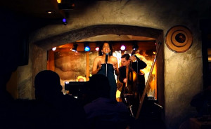 At Manhattan's Sugar Bar with jazz singer Ami Brabson
